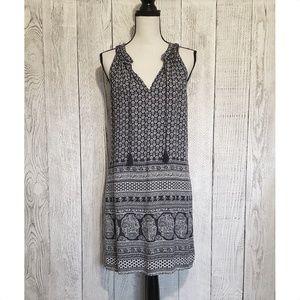 Roxy Boho Print Tassel Mini Summer Dress Medium